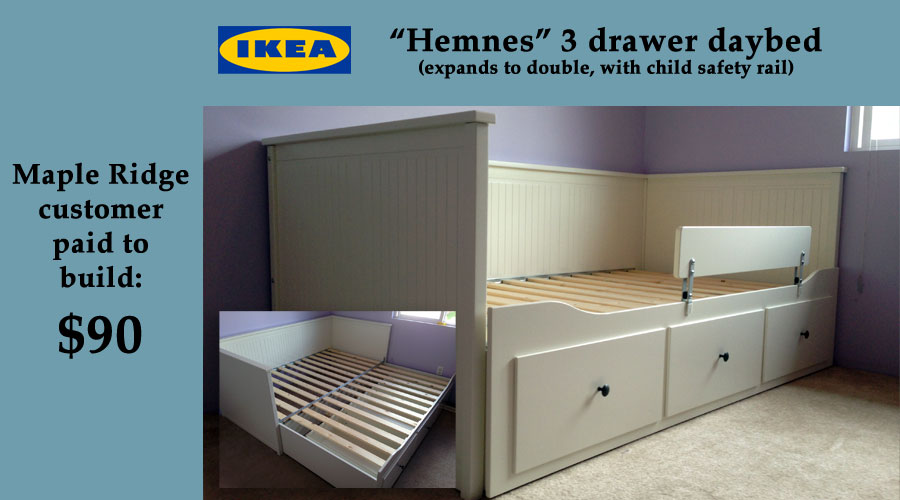 We assemble 4 you ikea walmart costco etc bc lower for Hemnes daybed ikea